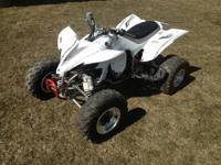 - 2006 Yamaha YFZ 450 sport quad - white with grey &