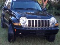 Black 2006 Jeep Liberty Limited TrailRated 4x4 with