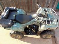 750cc 4X4 Kawasaki 2007 ATV, Camo, NRA Edition,