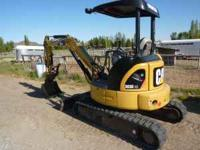 2007 Caterpillar 303 CCR excavator with 1200 hrs., 24""