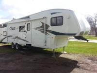 2007 COUGAR 314BHS 2 BEDROOM REAR BUNK HOUSE 5TH WHEEL