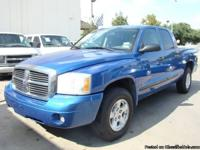 07 DODGE DAKOTA QUAD TAXI SLT 2WD V6 3.7 L BLUE/CLEAN
