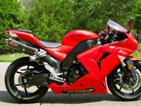 Kawasaki ZX10R Ninja with 6,800 miles. This bike is in