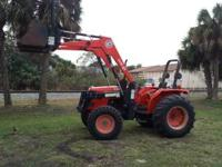 07 KUBOTA M 4900 HAS QUICK ATTACH FRONT END LOADER AND