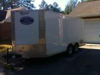 8.5x16' enclosed trailer for sale there is a ramp door
