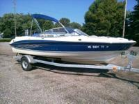 Check this pre-owned Bayliner out! Super clean. Powered