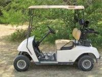 08 EZGO PDS GOLF CART white in color, 2010 batteries,