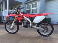 Selling my 2008 Honda CRF 450R with extras. This dirt