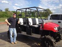 2008 Polaris Ranger 700 Crew. Seats 6. Gorilla axles,