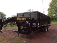 2009 BIG TEX 25U GOOSENECK DUMP TRAILER. GVWR IS 25,900