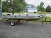 A GREAT 12ft fishing boat with trailer for sale. This