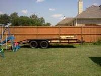 we have a 16' car trailer in good condition newer