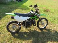 2003 kawasaki KLX110 dirtbike 3spd (clutchless) green