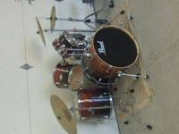 I have a eight piece pearl vision drumset i have over