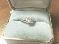 This is a beautiful 1.01 carat round brilliant diamond