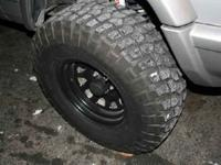 size 32x11.5-15 mounted on fifteen x 8 Black Rock rims,