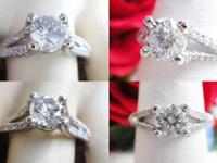 This is a 1.06CT Round Brilliant Diamond Engagement