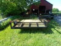 New 77x10 (2) gate fold inside the trailerNew MSO with