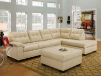 2 piece sectional that comes in rich bonded leather