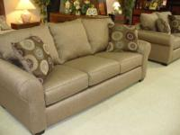This brand new sofa and love set is shown here in a