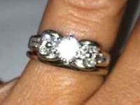 1 1/2 carat engagement ring with wedding band appraised