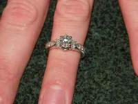 SOLITARE DIAMOND RING-1CARAT-IN A 4 PRONG TIFFANY