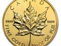 1/10 oz Misc. Year Canadian Maple Leaf $ 5 Gold Coin