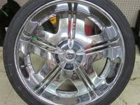 DUB 24 INCH CHROME RIMS & TIRES - 6 LUG DUB CHROME RIMS