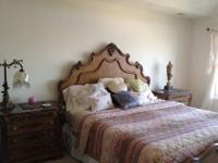 Elegant king size hand carved headboard, low profile
