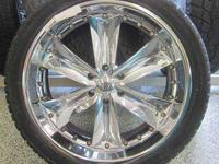 NICHE 24INCH 6 LUGS TRUCK CHROME RIMS & TIRES - 6X5.5 6