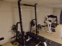 1 commercial grade Power Tech Smith Machine without