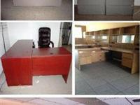 3 solid office desks with return. Good condition.