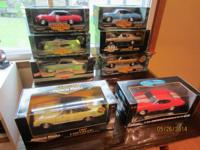 (8) 1/18 scale die cast Chevelle's.  - 67 Yellow