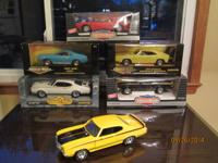 (9) 1/18 scale die cast cars.  - 70 Yellow Buick GSX