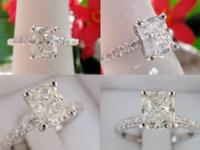 1.18CT Radiant Diamond Engagement Ring GIA Certified