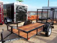 New 6.5' x 12' Utility Trailer with TailgateMid Valley