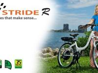 The Stride R has a pearly white finish and contemporary
