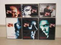1,2,3,5,6,7 seasons of 24.Great condition.Call or text