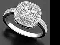 Size 6 beautiful round-cut diamond set in 14K white