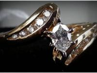 Fantastic and Bright Marquis !! Diamonds flared on