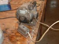 One half horse power motor works well. came off an old