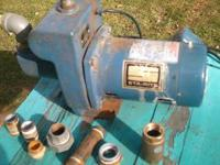 Sta-Rite 1/2 hp shallow well jet pump. 3450rpms. Comes