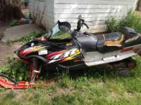 03 Arctic Cat ZR800. New track, skis, sliders, skags