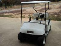 EZ GO Golf Cart. Electric with battery charger. Hard