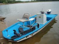 1991 year 15' Craft Fiberglass Fishing Boat (electric
