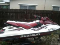 A very well taken care of 1998 Bombardier Sea Doo GTX.