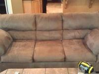 Ashley sofa & 2 loveseats, microfiber fabric that is