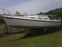 1982 luger sail boat 26 foot..for sale it has a swing