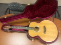 Up for sale is a vintage Taylor model #555 12-string