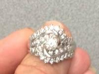 14K WHITE GOLD 9.8 GRAMS OF GOLD  39-ROUND BRILLIANT
